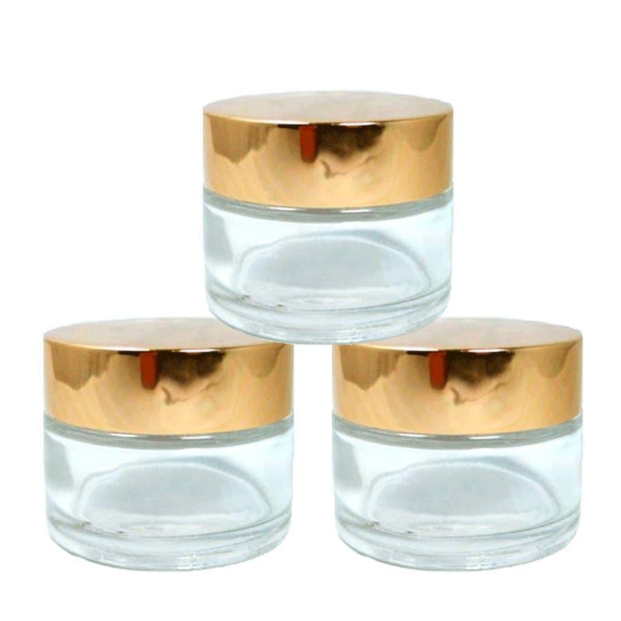 6 MINI Luxury 20ml FROSTED Glass Cosmetic Jars 20 ml w/ Premium Matte  SILVER Caps Solid Perfume , Lip Scrub, Balm Salve, Anti-Aging 2/3 Oz
