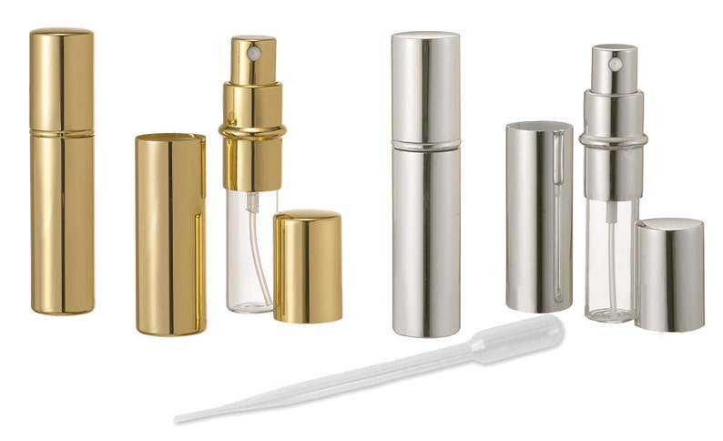 cfac03d2b941 10 ml GOLD Perfume Atomizer REFILLABLE 10ml Purse Spray Bottle, Essential  Oil Mister for DIY Fragrance, Floral Water, Body Mist