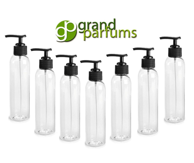d9aa9a00cc2e 6 Clear Lotion Pump Dispenser BOTTLES 4 Oz, BPA Free PET Black Pump Cap  Lotion, Shampoo, Body Cream, Soap Aromatherapy, Essential Oil