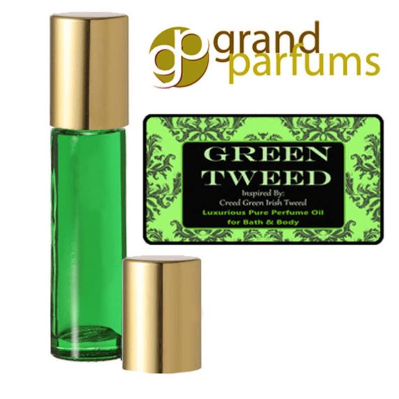 newest 5c345 7ee5f Ispirato da Creed Tweed irlandese verde lussuoso profumo puro olio regalo  bottiglia bagno & corpo w / Jojoba biologico di mandorle dolci e vitamina E  ...