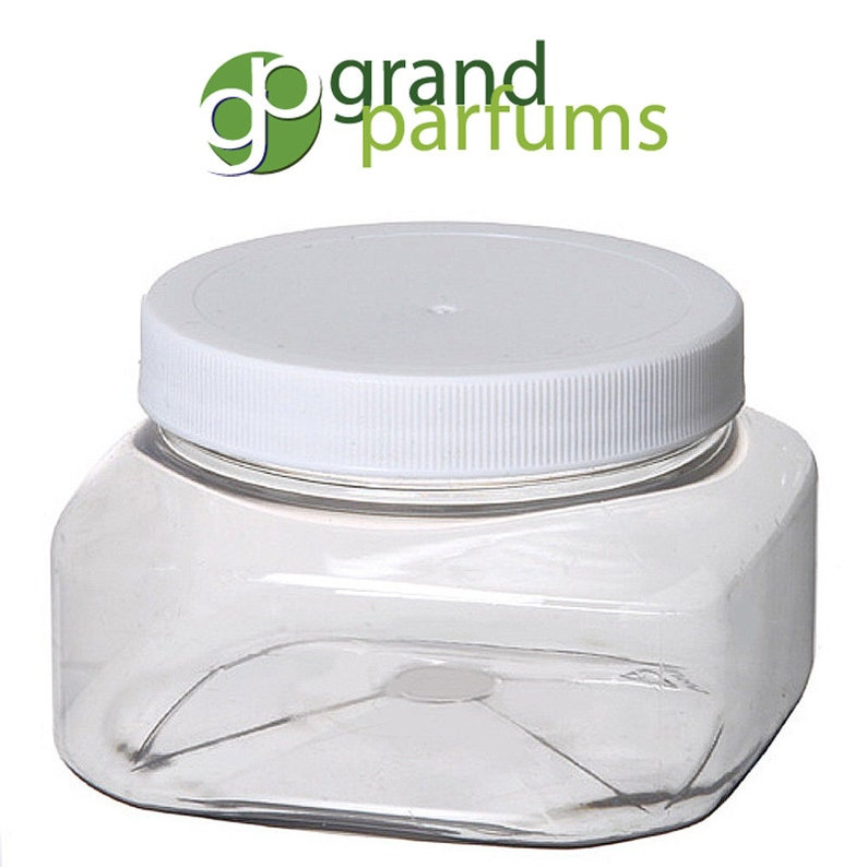 8 Oz Empty Plastic Cosmetic Containers Clear Pet Jars Etsy