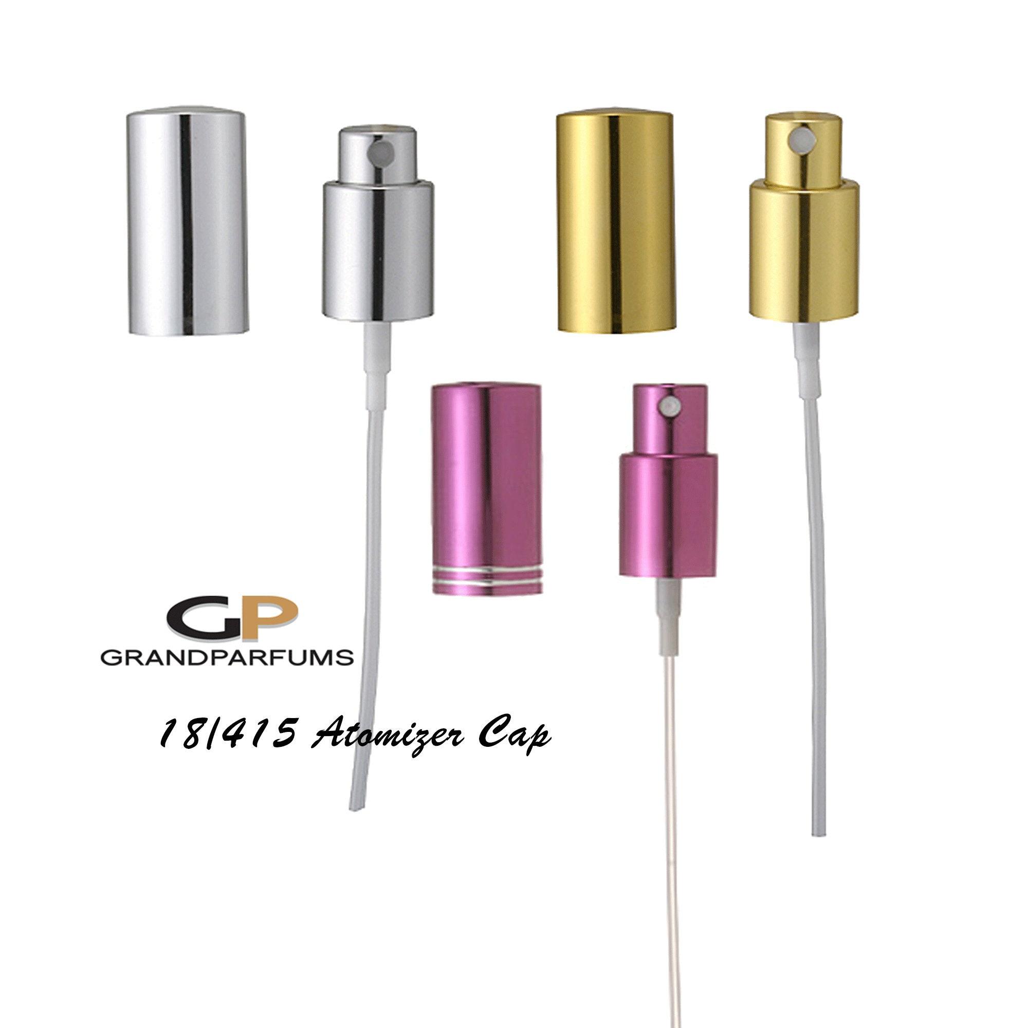 3-12 GOLD or SILVER PERFUME Sprayers Atomizer Caps Aluminum