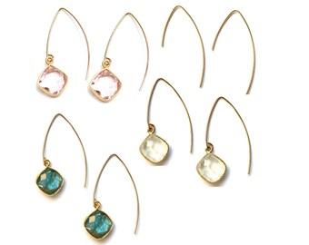 Gold Filled V Earrings