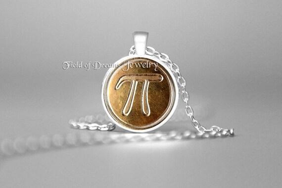 """Cadena Colgante Collar Pi Plateado Plata 1/"""" Colgante Joyería Geek Matemáticas Ciencia"""