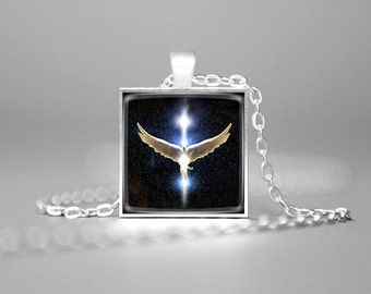 GUARDIAN ANGEL PENDANT Christian Necklace Christian Gift Religious Gifts Spiritual Gifts Angel Charm Necklace Spiritual Necklace Angel Wings