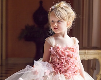 b68f272050e Flower girl dress Pink Champagne Dress