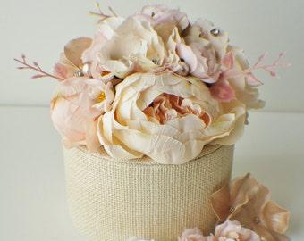 Flower Cake Topper, Wedding Flowers, Floral Cake Topper, Silk flower Cake topper, Wedding decor