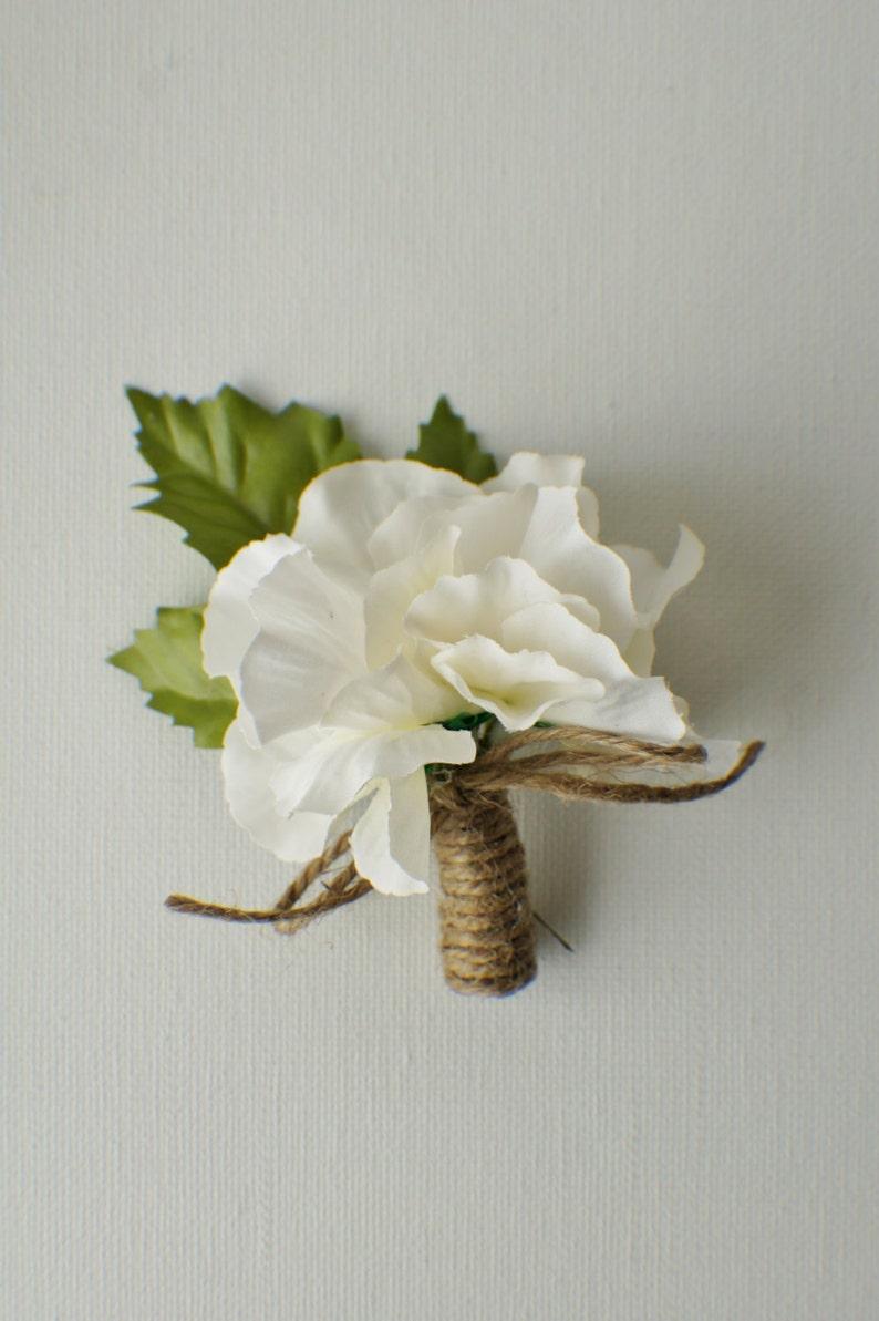 Rustic Wedding Boutonniere Hydrangea Boutonniere Groom Groomsmen Wedding Flower Hydrangea and Pearl Accent