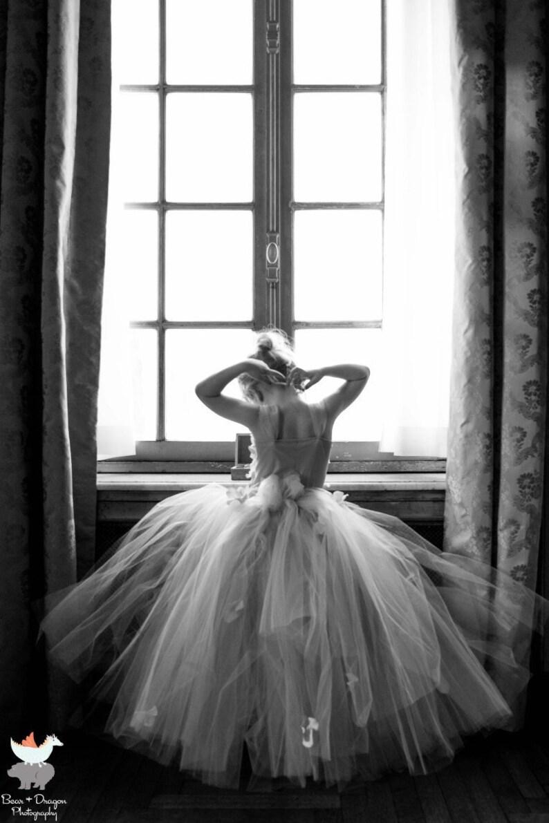 Pink Champagne tutu dress hydrangea top toddler tutu dress Cascading flowers flower top Flower girl dress Pink Champagne Dress