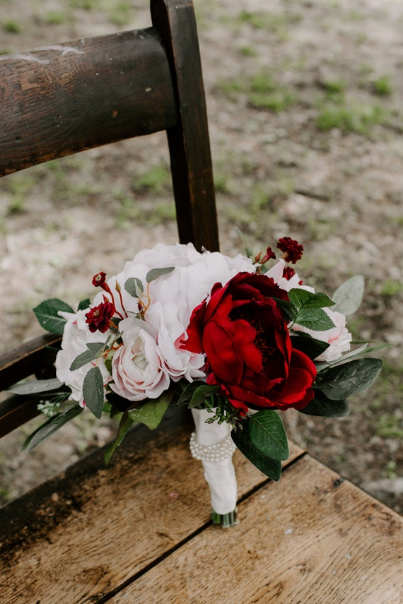 Brautstrauss Brautstrauss Rosa Rot Blumenstrauss Blumen Etsy