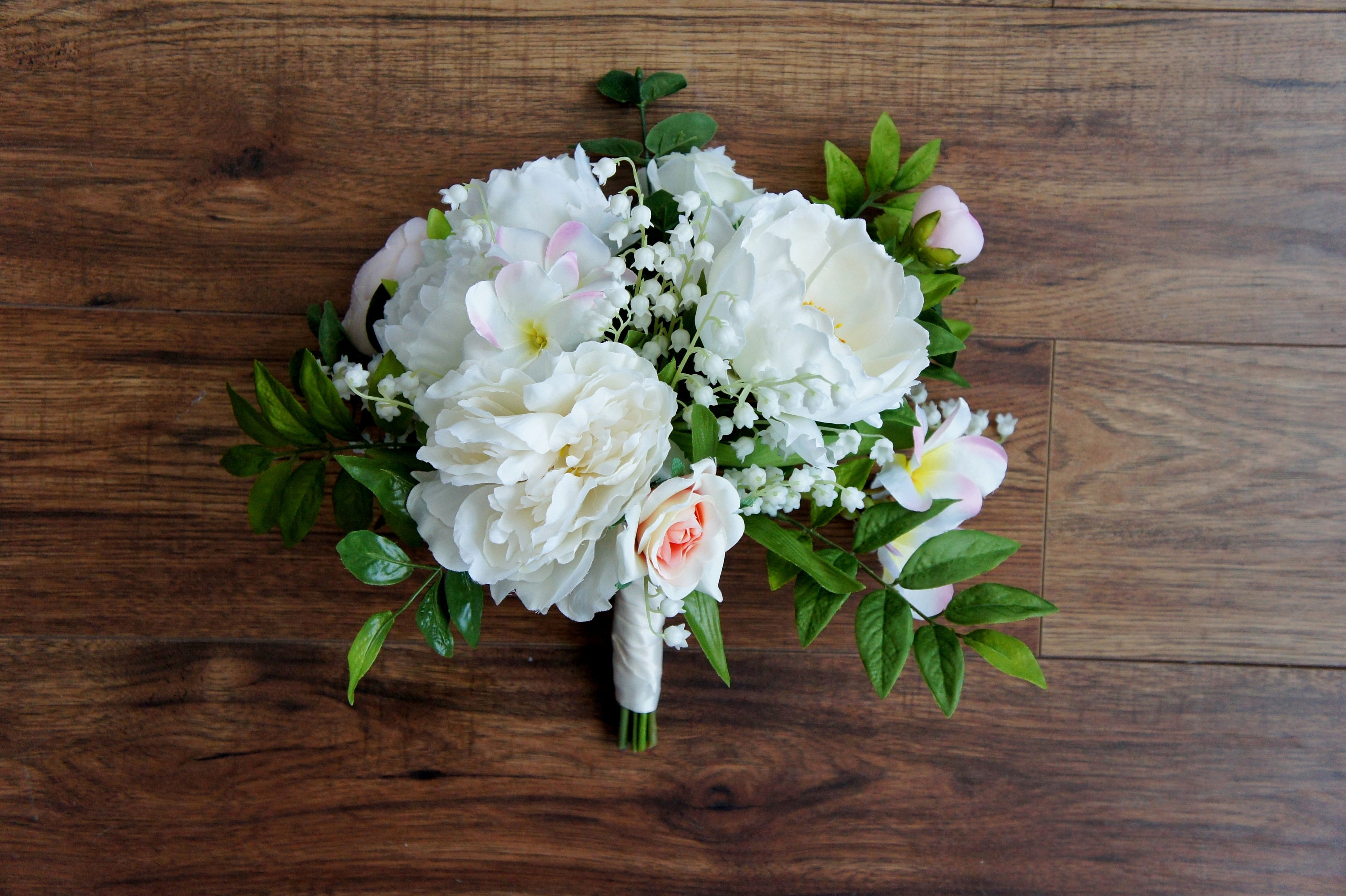 Lily Of The Valley Wedding Bouquet: Lily Of The Valley Bouquet Boho Wedding Bouquet Peony