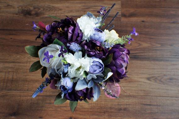 Hochzeitsblumen Lila Blumenstrauss Bereit Schiff Etsy