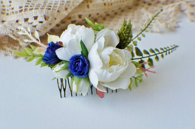 Wedding Hair Comb Bridal hair Greenery crown Bridal Comb Floral hair pin Fern Hair Comb Floral Comb Wedding Comb Boho Hair Comb