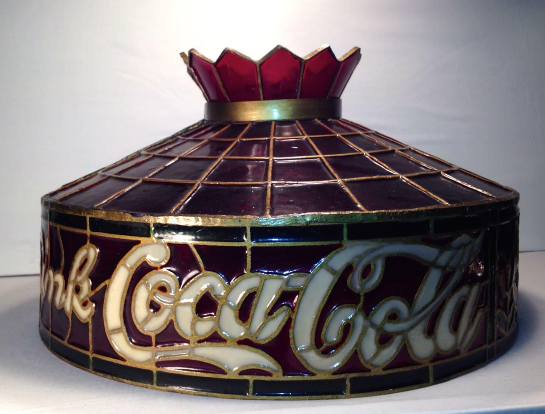 Vintage Drink Coca Cola Lamp Shade Tiffany Style Lamp Shade