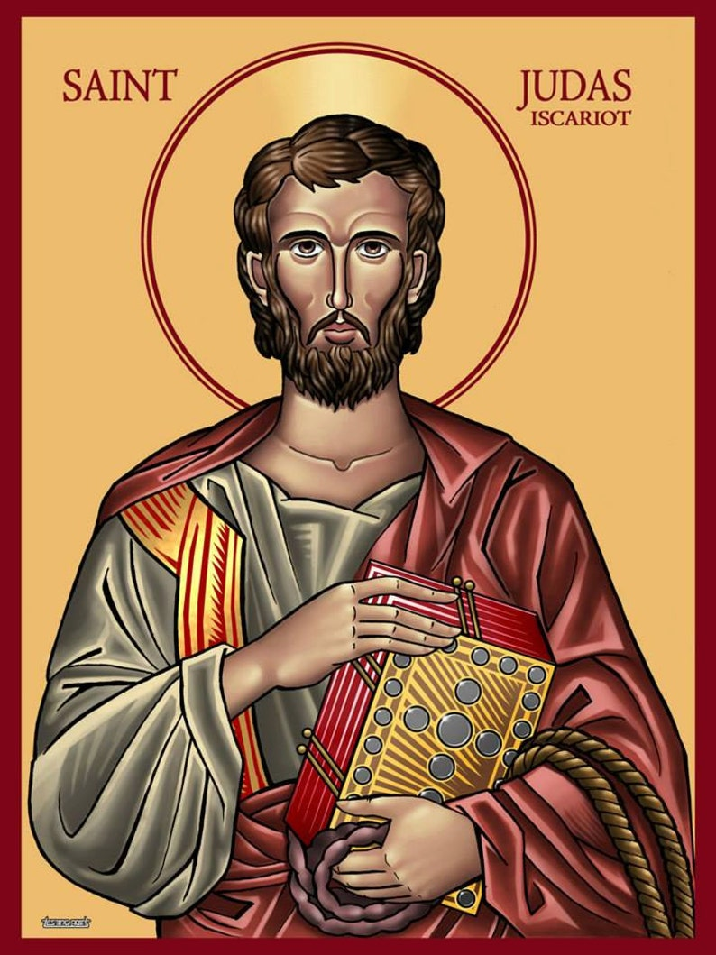 Saint Judas Iscariot Pseudo religious icon Greek Orthodox image 0