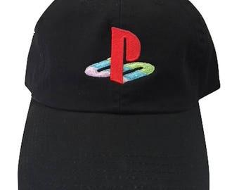 PS Playstation PG2 Black Adjustable Strapback Cap Dad 927e2758dfba