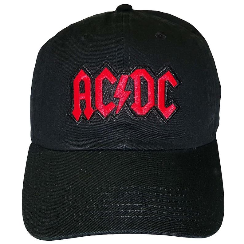 7fae9029b63ce AC DC Black Adjustable Strapback Hat