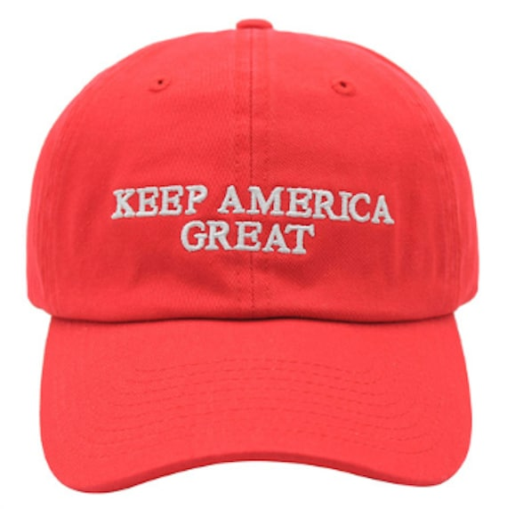 717d75f9bd0 Keep America Great Trump 2020 Red Adjustable Strapback Cap Dad