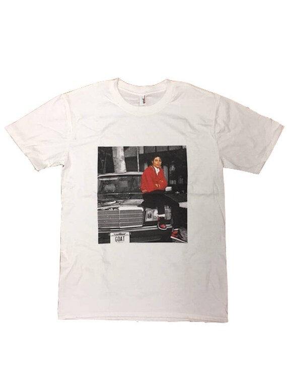 93b5cc3a6d4d Custom Michael Jackson White T Shirt MJ The GOAT