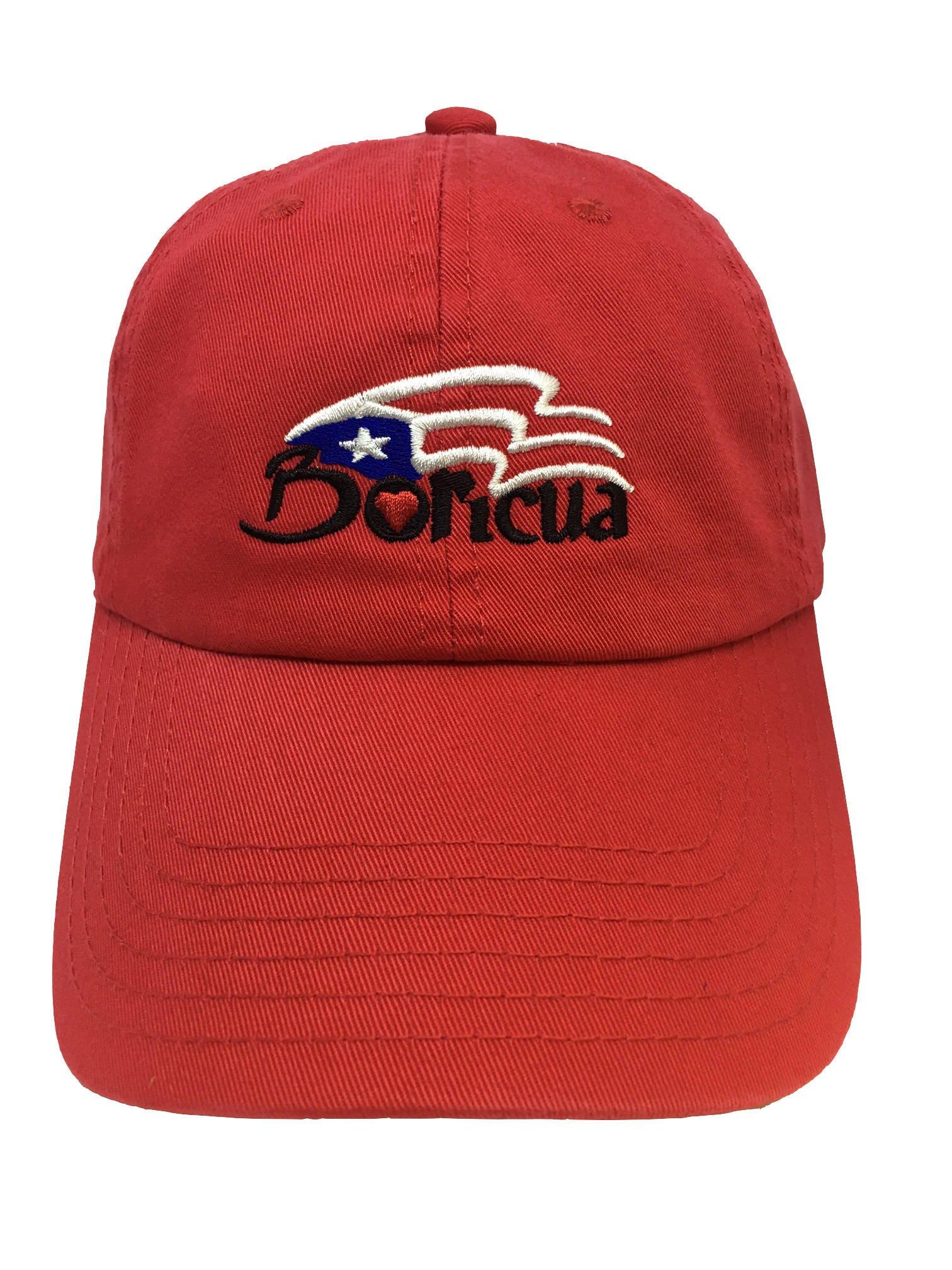 Boricua Puerto Rico Flag Red Adjustable Strapback Cap Dad Hat  d7808f703738
