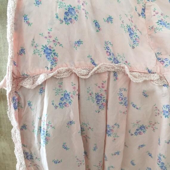 30s silk , pink ,floral bed jacket - image 8