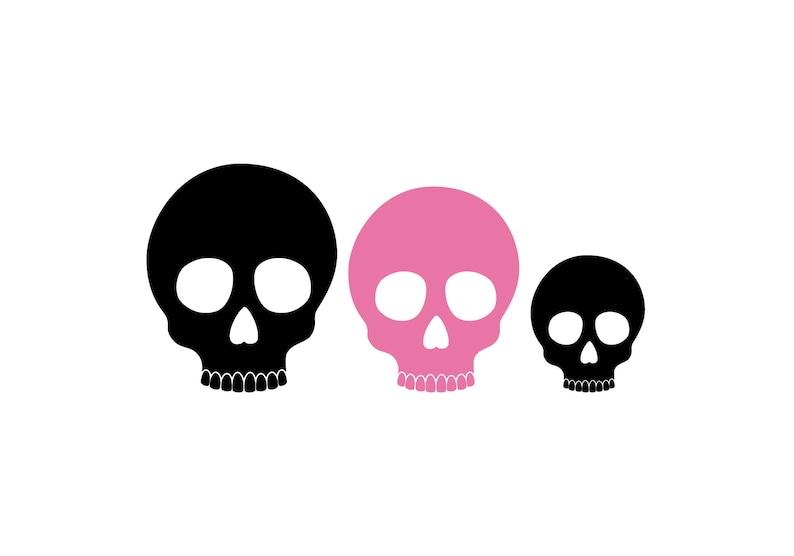 Calavera Skull Family Car Decal Family of 3