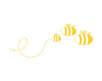Colony of Bumble Bees Family Car Decal