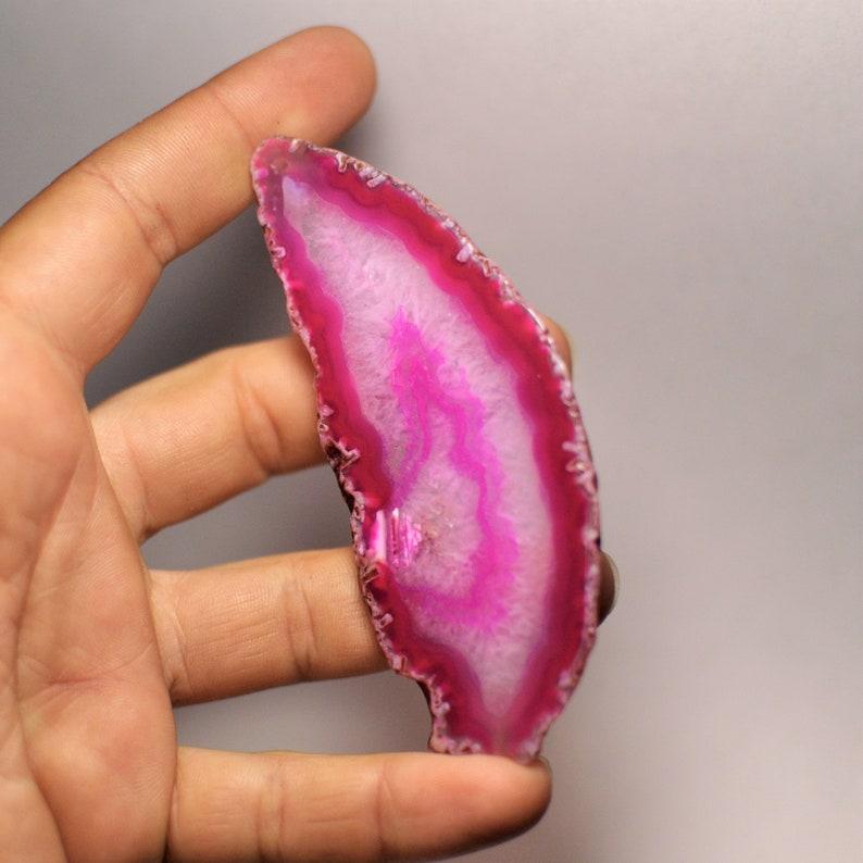 Natural Druzy Geode Agate Slice Pendant Dark Purple Color Freeform shape 211.45 Cts. 88x54x5 mm