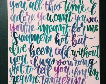 lana del rey 'salvatore' lyrics ink painting