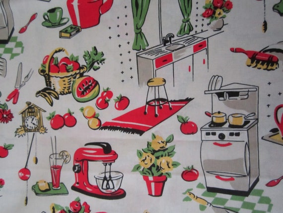 Vintage Kitchen Fabric Best Inspiration Design