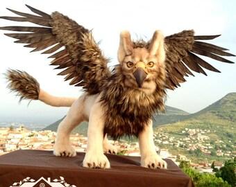 Fantasy Art Horned Lion
