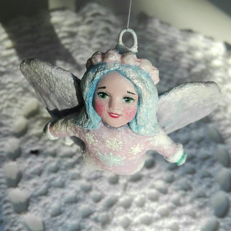 magic gift Angel ornament handmade pastel decoration collectible vintage retro style fairy figurine