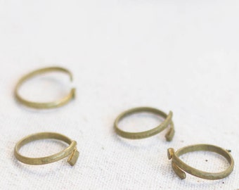 Lap Ring, Adjustable, Brass or Gold Plated.