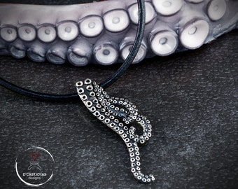 Sterling silver Pendant Octopus, Tentacle octopus necklace, Ocean Jewelry, Handcrafted pendant