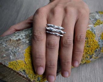 Silver Tree Branches ring