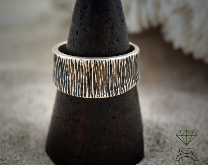 Rustic band ring, Silver band ring for men, Alliances for men, Cool man ring, Unisex jewelry, Boho style ring, Handcrafted ring