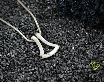 Solid Silver Ax Pendant, Modern Thor Ax