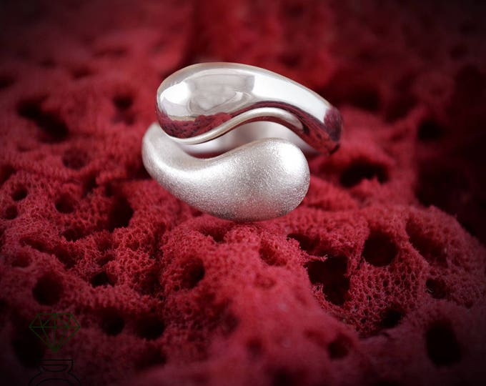 Yin Yang Ring, Sterling Silver Ring, Talisman Jewelry, handmade ring, Contemporary Jewelry