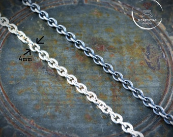 Sterling silver thick Cable Chain