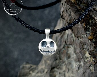 Silver pendant Jack Skellington, , Silver skull pendant, Nightmare before Christmas, Handmade pendant, Week jewelry