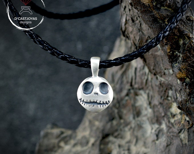 Silver pendant Jack Skellington, Halloween jewelry, Silver skull pendant, Nightmare before Christmas, Handmade pendant, Week jewelry
