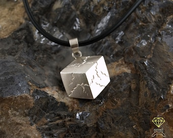 Silver Sacred Cube pendant, Sterling Silver Pendant, Silver Necklace, Mens Jewelry, Hand Made