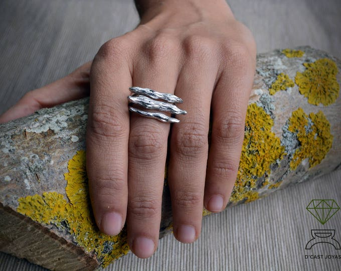Silver Tree  Branches ring, Solid silver Roots Ring, Sterling silver ring, Nature jewelry, Artistic jewelry, Handmade ring