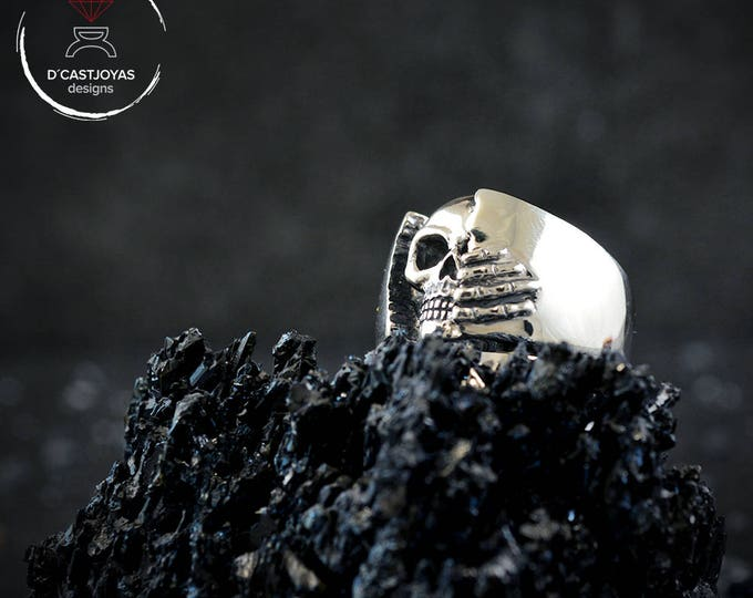 Winter is coming Ring, Silver skull ring for men, Silver band ring, Badass jewelry, Cool man ring, Mens Jewelry, Handmade ring