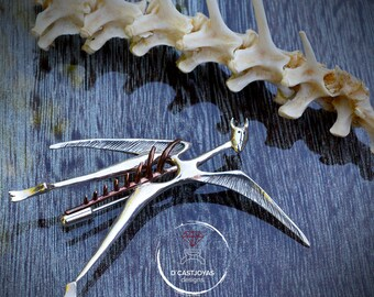 Sterling silver winged demon brooch,  Artistic Jewellery, Contemporary Jewellery, Handmade brooch, Mythological animal