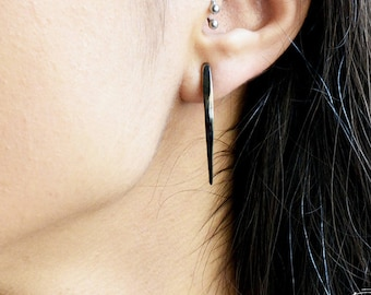 Sterling silver earrings  long snake fangs