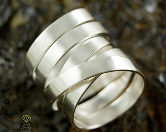 Sterling endless ring,  Wrapped Ring,  Contemporary jewelry