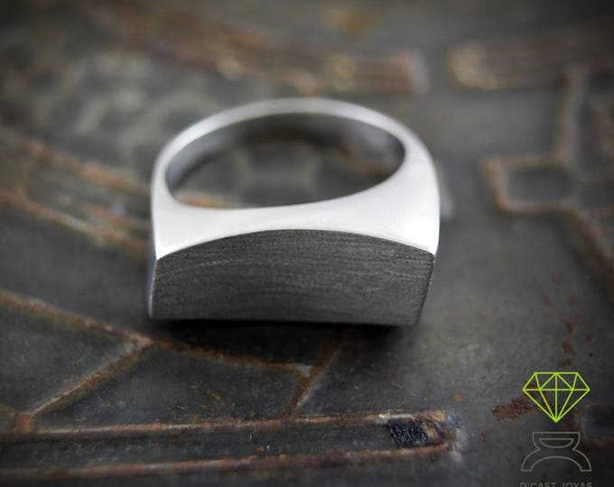 Silver Geometric Ring Asymmetric Ring Contemporary Jewelry Mens Ring Unisex Jewelry Handcrafted ring