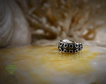 Silver ear cuff, Octopus Tentacle earring, Boho Style, Ocean jewelry, Unisex Jewelry, Handmade jewelry