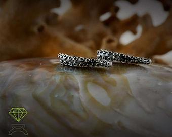 Silver Ear cuff  earring tentacle, Octopus tentacle earring, Ear wrap earrings, Sea jewelry, Unisex jewelry, Ocean jewelry